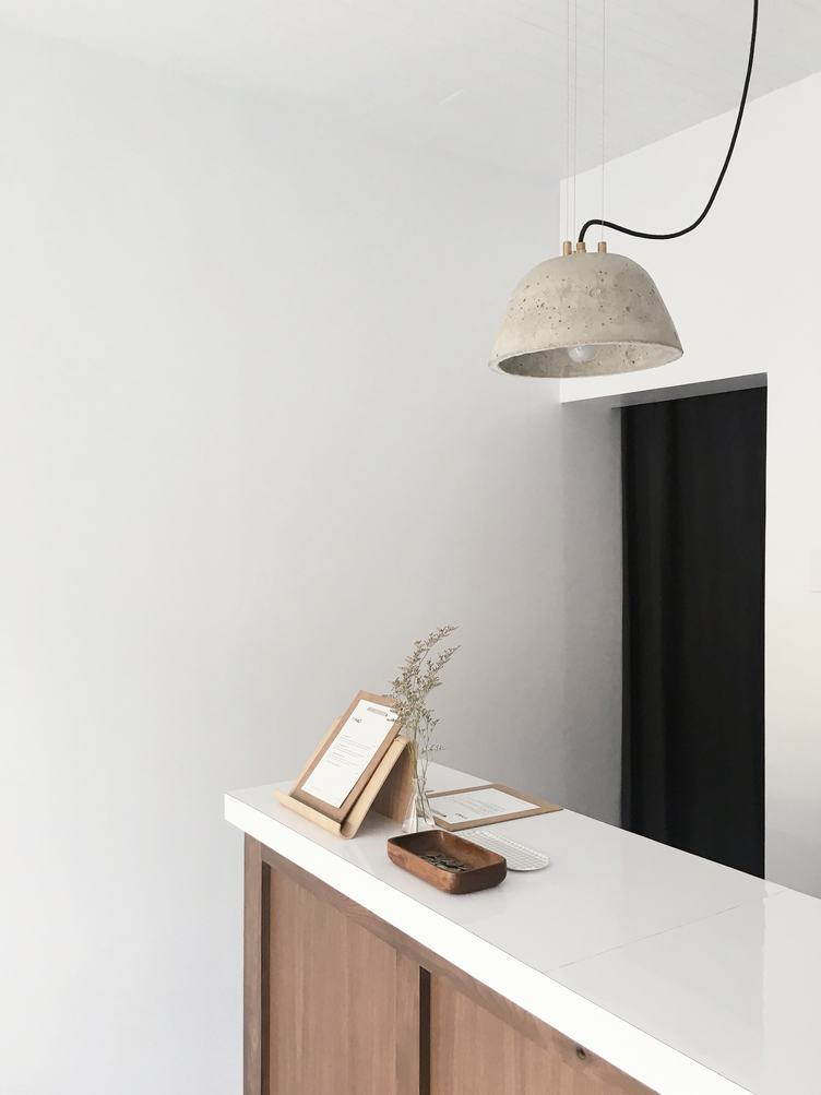Clean and Simple Reception Desk with White Countertop