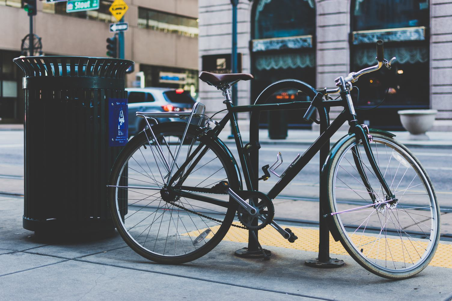 Bike Locked it the Street