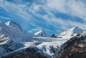 Mountain Landscape Panorama of Snowy Peaks