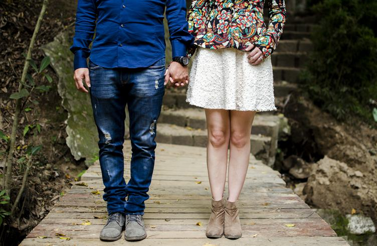 Couple Standing and Holding Hands