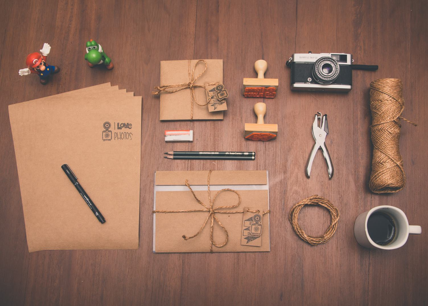 Desk Full of Creative Tools
