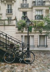 City Bike Parked on the Street of Paris