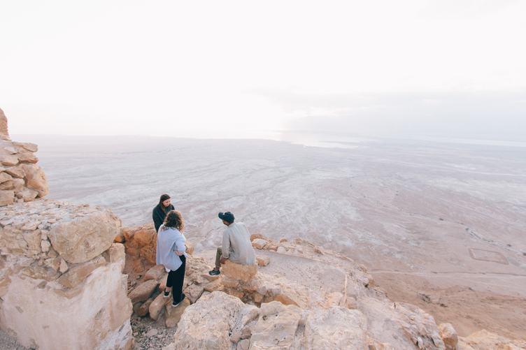 Guys in a Desert
