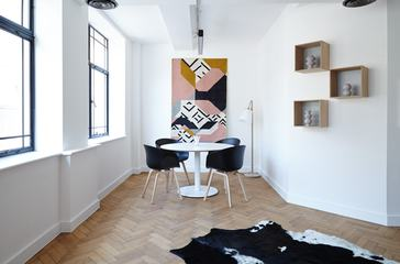 Modern Interior Design - Room with Wood Parquet Flooring