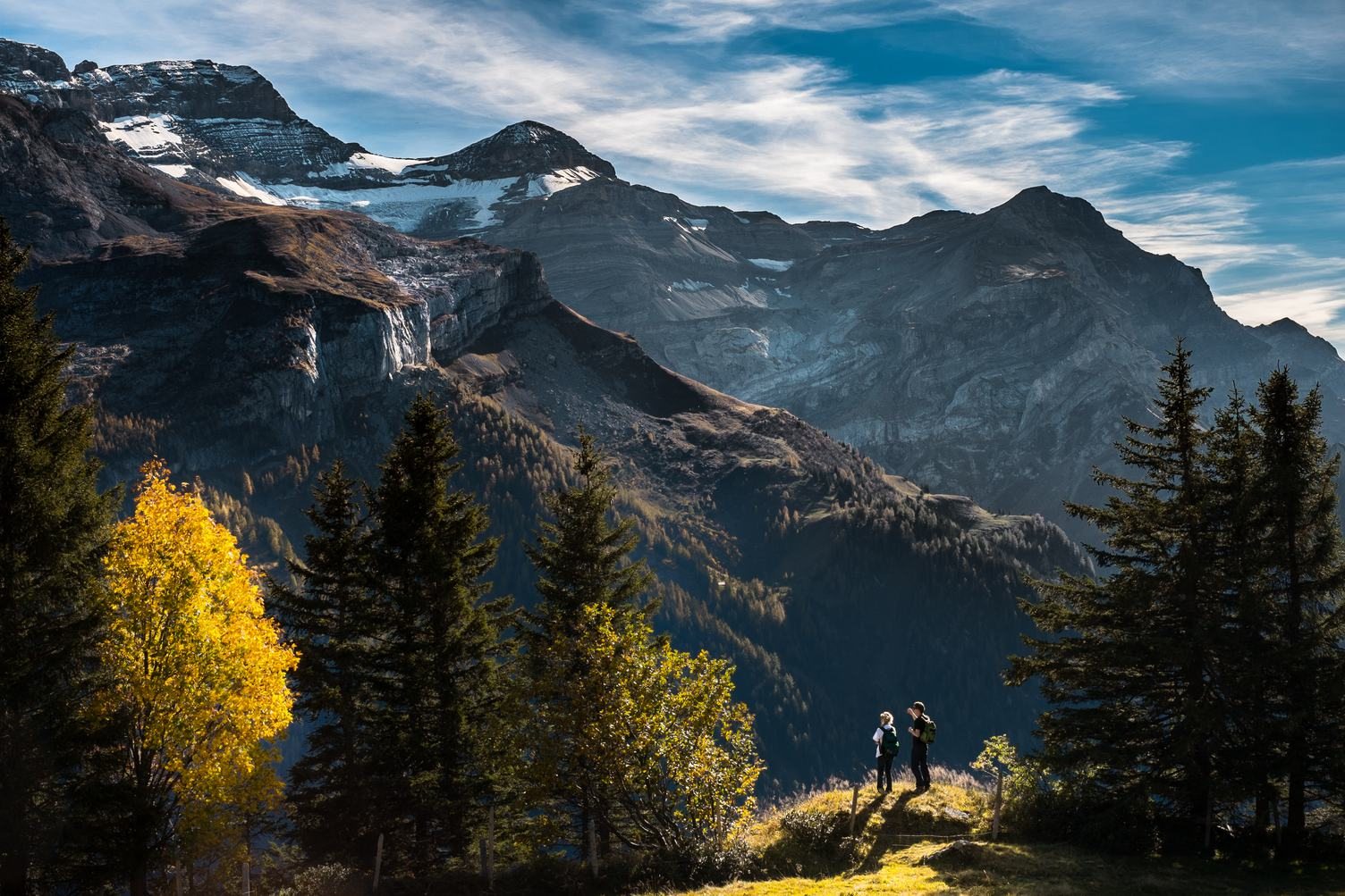 People Looking at Mountain