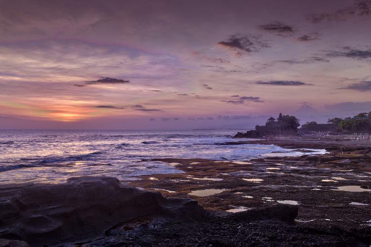 Mysterious Coastline Sunset