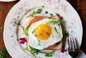 Delicious Breakfast Toast with Fried Egg