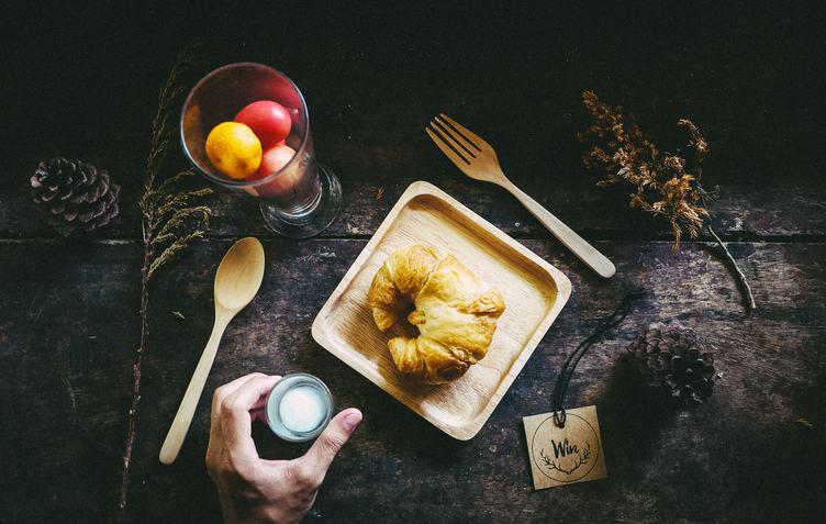 Croissant Breakfast Composition