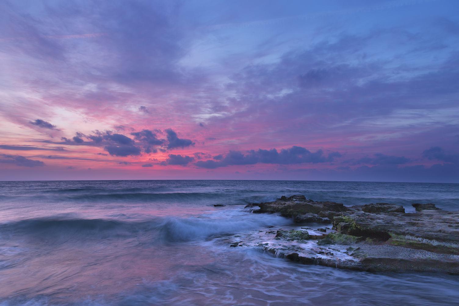 Pink Sky Sea