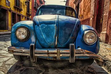 HDR of Old Blue Volkswagen Beetle