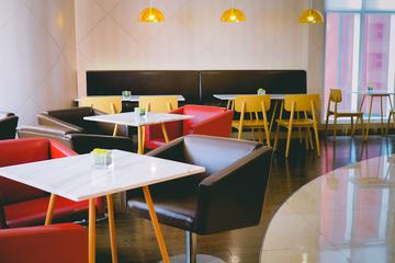 Empty Retro Restaurant Interior