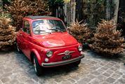 Red Retro Fiat 500