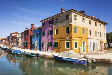 Colorful Houses and Boats along the Canal