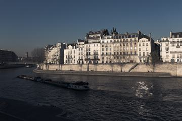 Sunny Facades of Old Buildings Along the Embankment