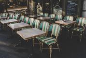 Stylish Parisian Cafe Terrace
