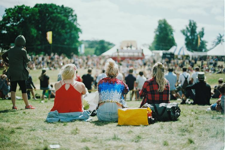 Audience of an Outdoor Festival