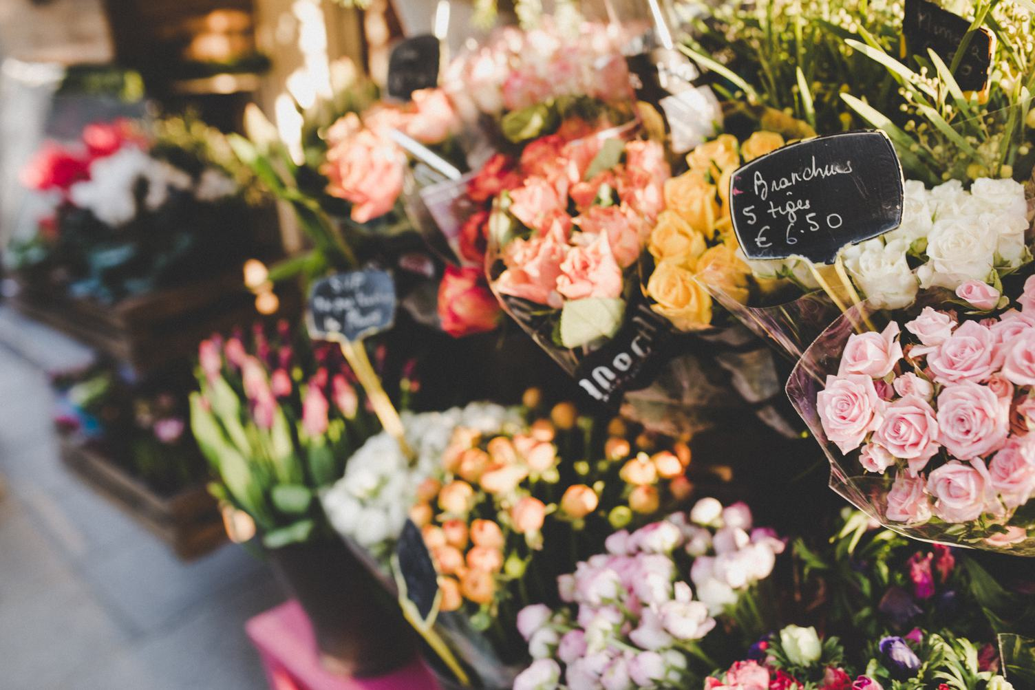 Exterior Florist's Stall with Colorful Flowers
