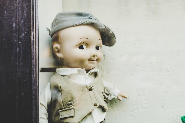 Retro Boy Doll Wearing Elegant Clothes