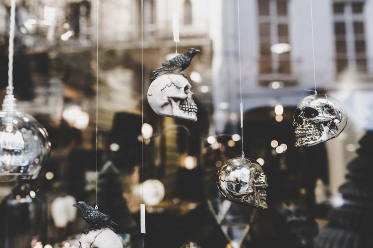 Skulls Decoration in a Shop Window