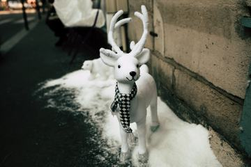Toy Deer with a Scarf Christmas Decoration