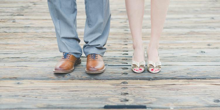 Shod Feet of an Elegant Couple