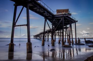 Long Exposure Seaside View with a Long Pier