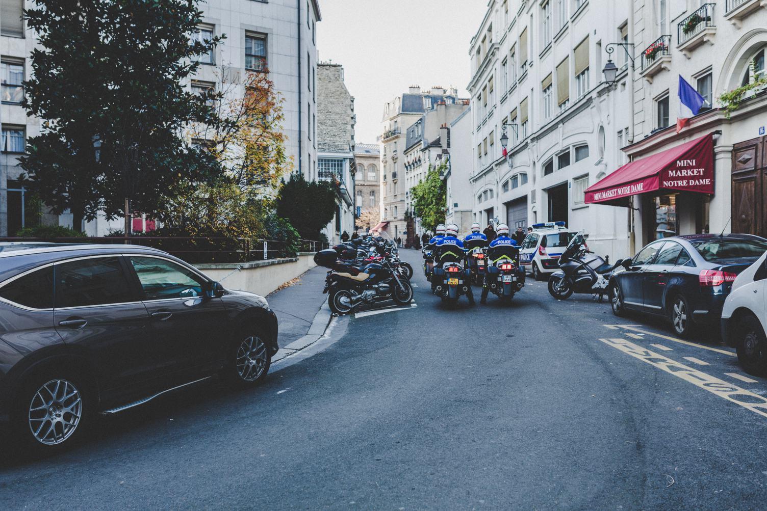 Group of Policemen on Bikes