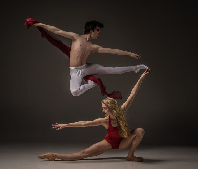 Couple of Contemporary Dancers in Movement