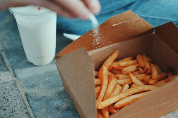 Salt French Fries in a Paper Box