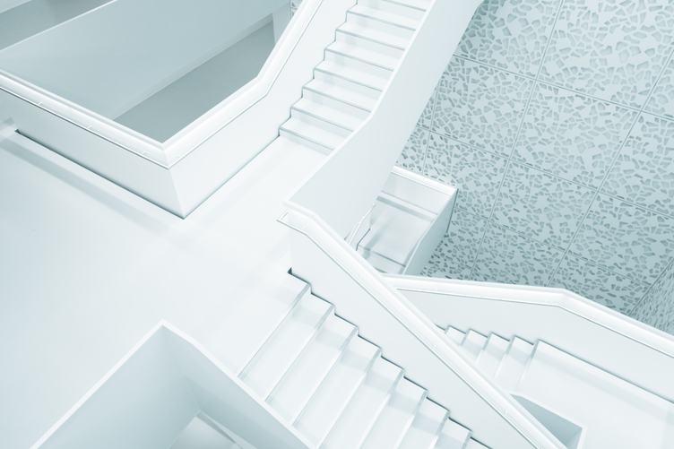 White Modern Huge Stairs