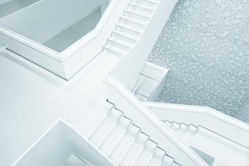 White Modern Huge Stairs