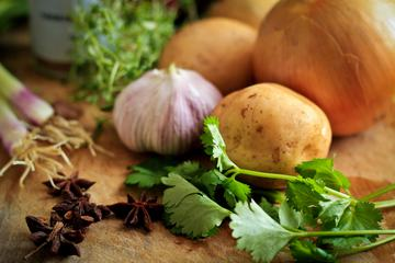 Fresh Raw Vegetable Ingredients for Healthy Cooking