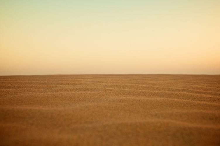 Yellow Desert Sand and Sky