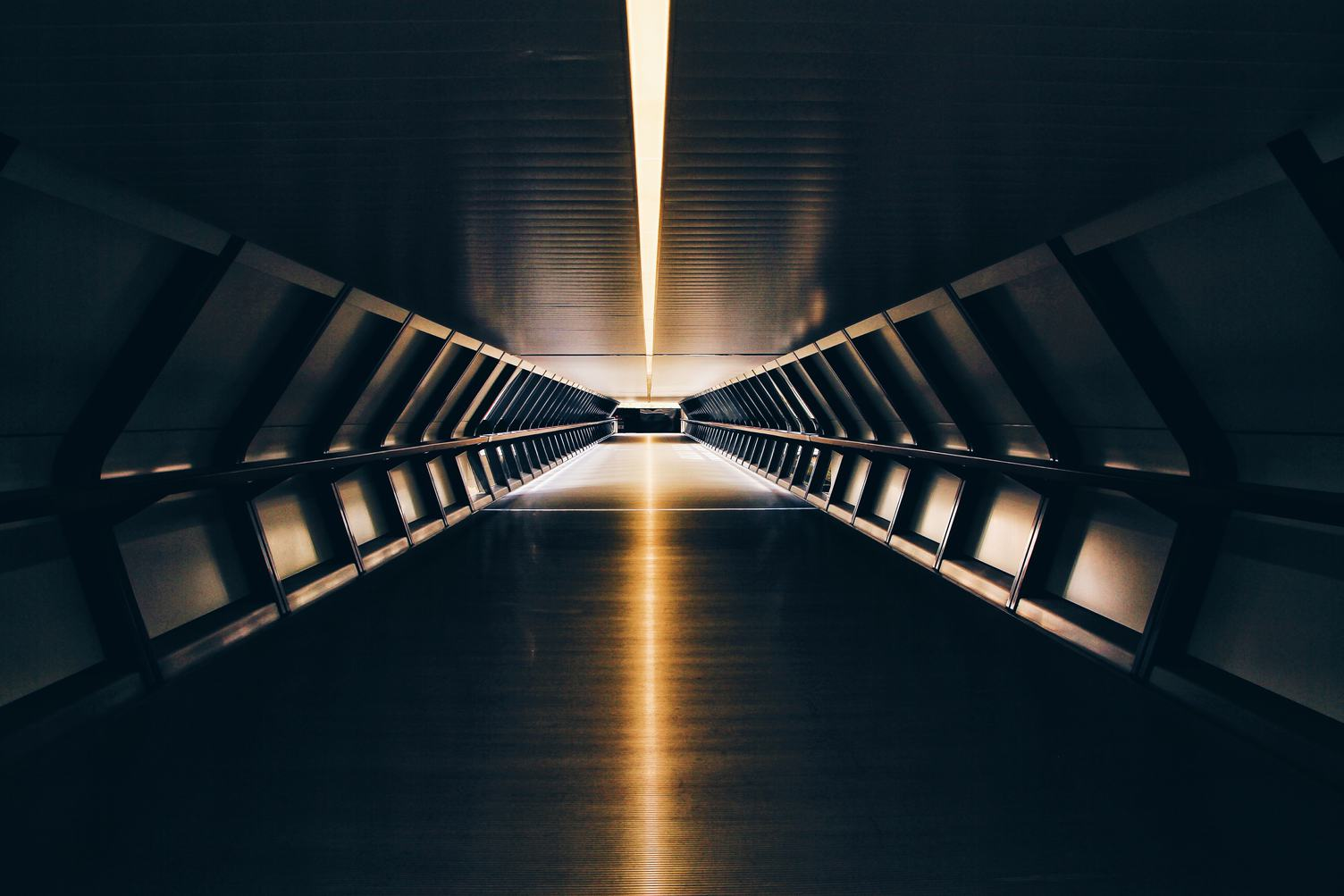Empty Tunnel for Pedestrians
