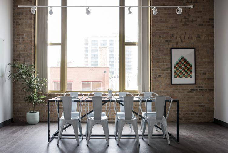 Conference Room with a Brick Wall