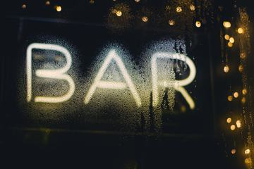 Blurred and Wet Bar Neon
