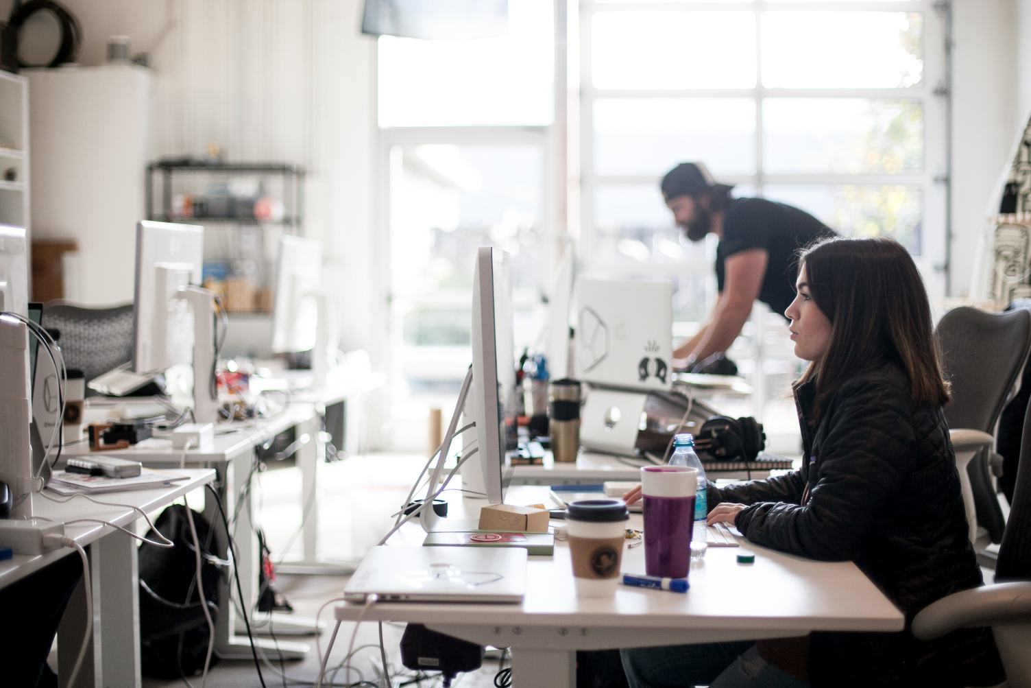 Startup Team at Work in Modern Office
