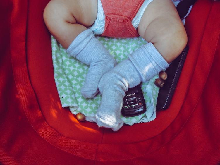 Newborn Baby Feet Closeup