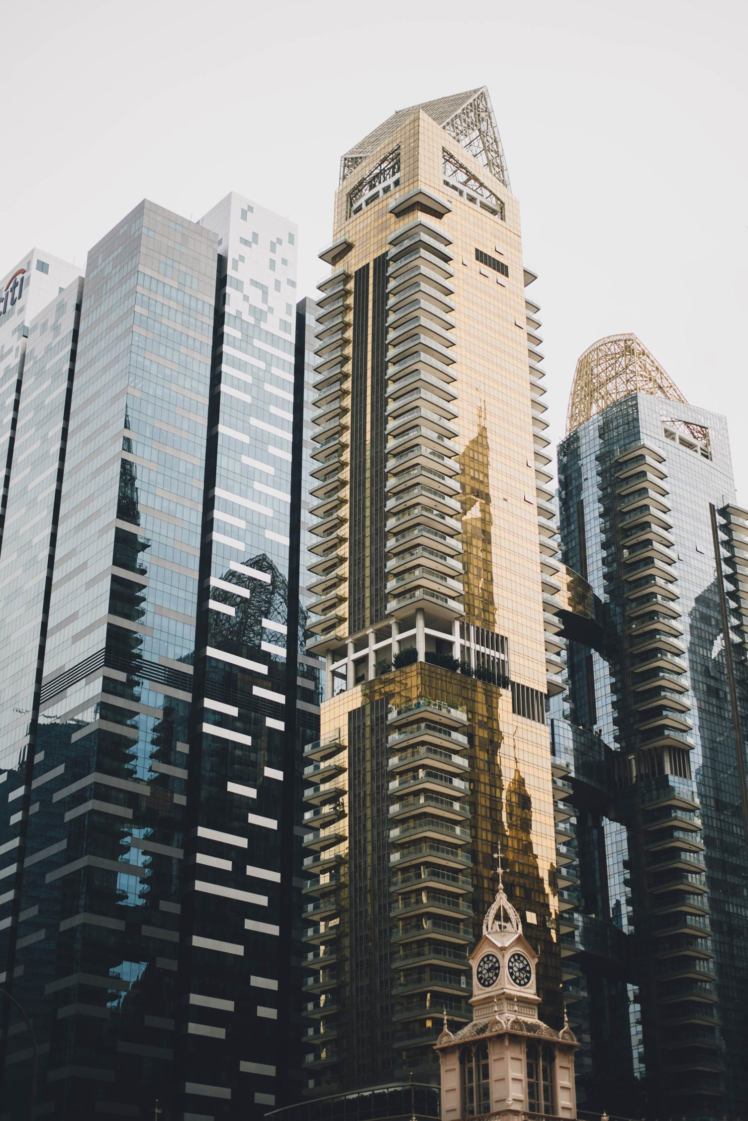 Skyscrapers with Glass Facade