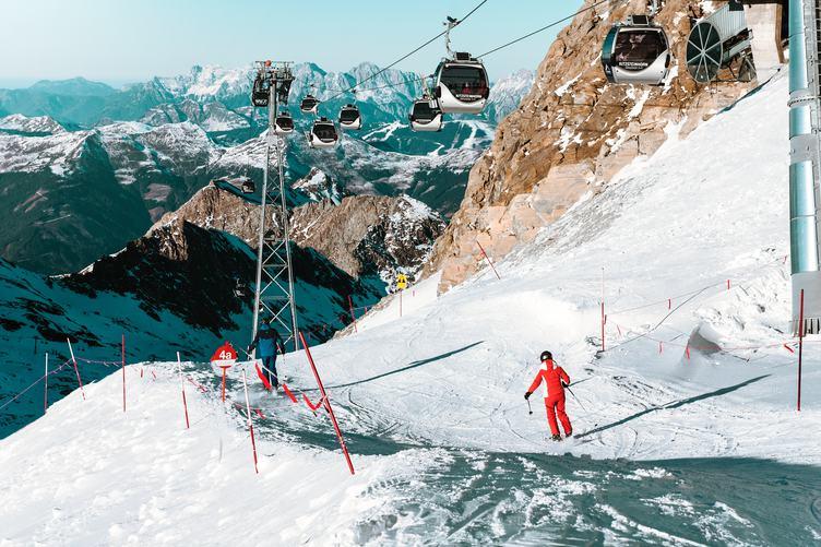 Ski Gondola Lift in the Mountains