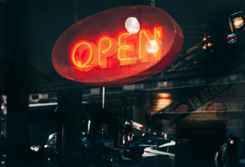 Open Sign Neon Light Bar or Restaurant