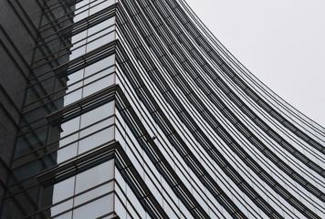 Modern Building with Curve Facade