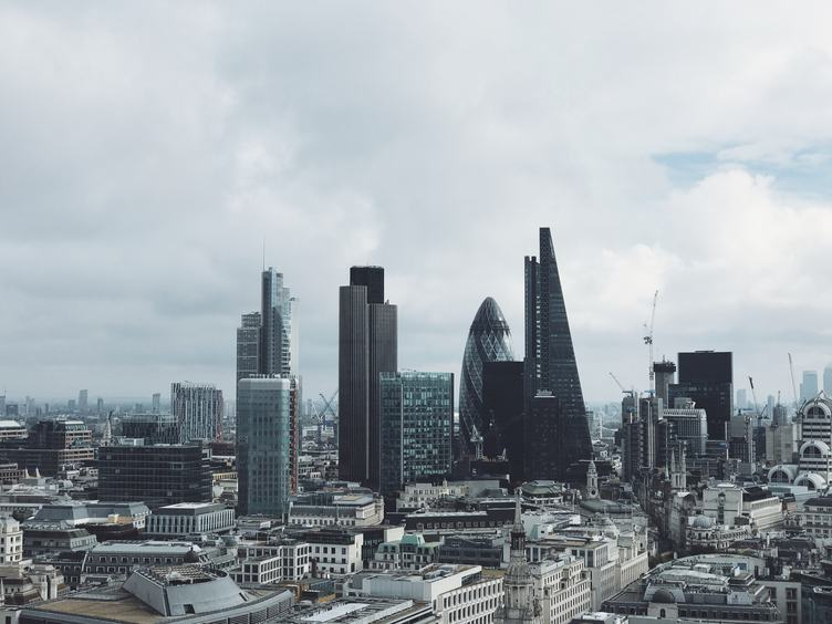View for the London's Business District