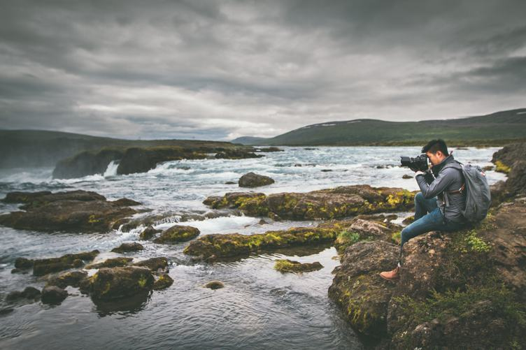 Nature Photographer Tourist with Camera