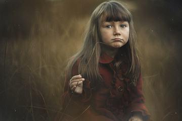 Outdoor Portrait of Cute Long Hair Girl