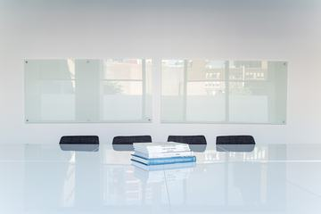 Interior of White Meeting Room