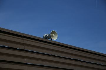 Megaphone on Nice Blue Sky