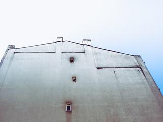 Gable Side of a Building against Blue Sky