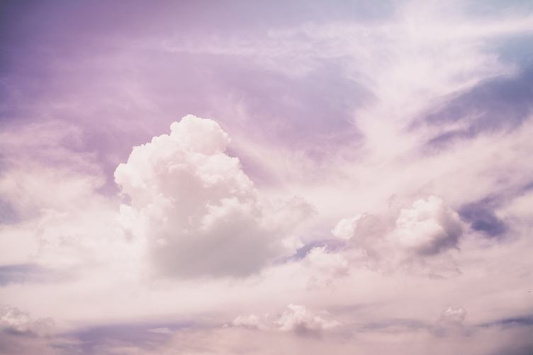 A Soft Cloud Background with a Pastel Colors