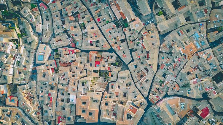 Aerial Photography of City Roofs